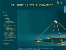 Tablet Preview of licht-kristall-pyramide.de